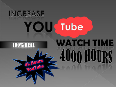 Get you 1000 hours on youtube and monetize your channel
