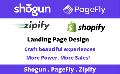 Create Shopify ecommerce store with shogun page builder