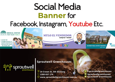 Design a social media banner vertical and horizontal instantly