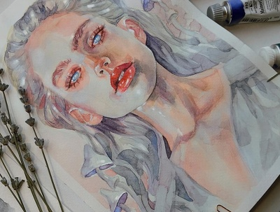 I can draw amazing watercolor portrait