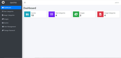 Create admin panel for mobile application