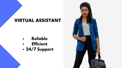 Be your Reliable Virtual Assistant for 1 hour