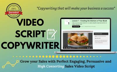 do sales script writing and video script copywriting