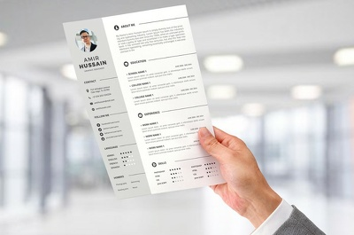 Design a modern & professional CV/Resume within 3 hours