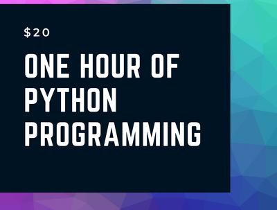 Do one hour of Python Programming