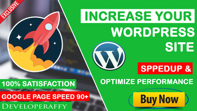 Do wordpress website speed optimization and increase page speed