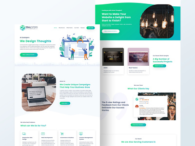 Design a Website Homepage / Landing Page with PSD File