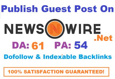 Publish Guest Post On NewsWire - NewsWire.net  DA 61