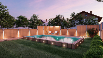 Create a landscape design for your garden (2D and 3D rendering)
