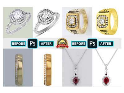 High Qulity  Jewelry Retouch With Color Balance Gold/Silver