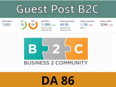 Guest post on Business2community DA 86 Premium Website