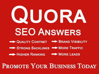 Write 10 high quality quora answers with backlinks for website