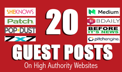 write n Publish 30+ Unique Guest posts on high authorities site