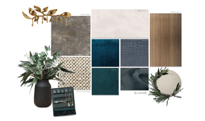 Create a finishes moodboard inspiration