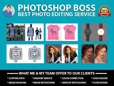 Image editing, Color Correction, Retouching, Resize, Logo Design