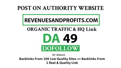 guest Post on Revenuesandprofits – Revenuesandprofits.com DA 49
