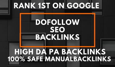 Create 40 USA pr9 da 90 dofollow backlinks