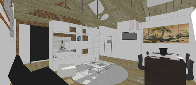 Build a detailed sketchup model from floor plans up to 5000 sqft