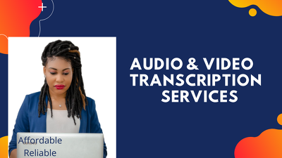 Professionally transcribe your audio or video files up to 1 hour