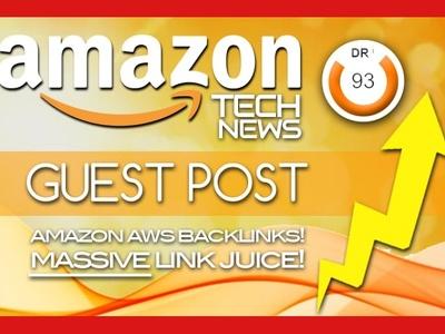 Guest post on amazon tech news website