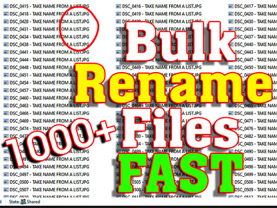 rename or change file names upto 1000 files