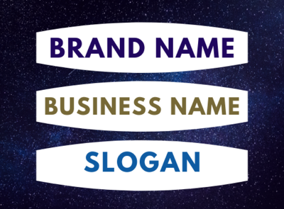 Write your brand name or business name with slogan
