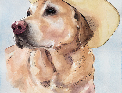 I can draw portrait of your pet