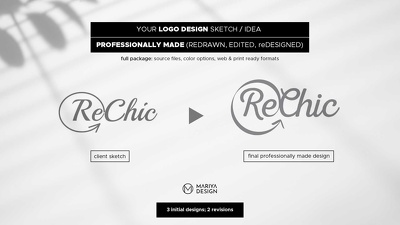 Professional executed logo design based on your drawings