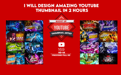Design A Gaming Channel  YouTube thumbnail in 2 hours