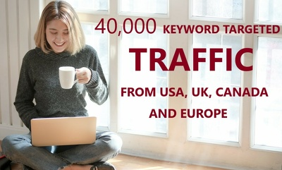 40,000 Niche/Keyword targeted traffic from USA, UK