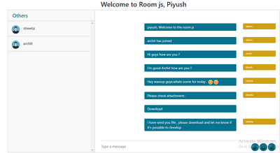 Develop LIVE CHAT, GROUP CHAT ROOM