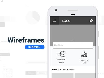 Design 5 wireframes for your app or website