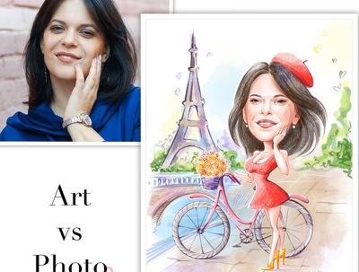 Caricature / cartoon portrait