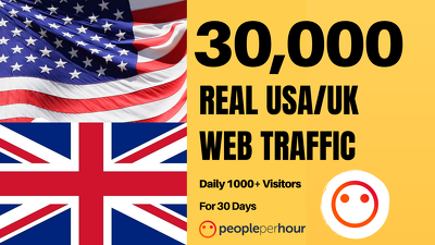 Send 30,000 USA and UK Real Human Web Traffic