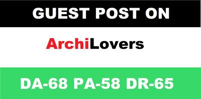 Publish guest post on archilovers - archilovers.com DA-68