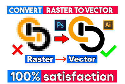 Vectorize your logo , convert image to vector, vector tracing