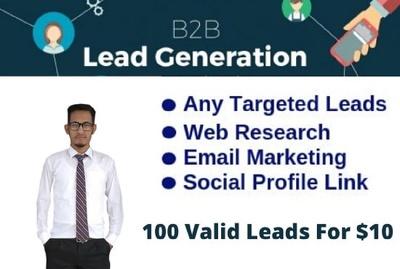 Do b2b lead generation with validation