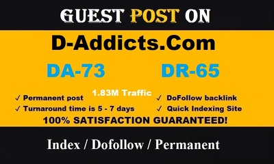 publish a Guest Post on d-addicts - d-addicts.com 1.83M Traffic