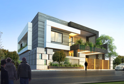 Create 4 photo realistic architectural renderings