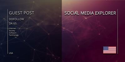 Get your article on - SOCIAL MEDIA EXPLORER