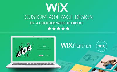 Custom 404 Page on Wix Website