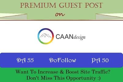 do Guest Post on CAANdesign.com with DoFollow Link, DA 55