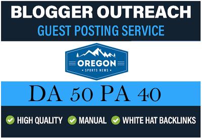 Add Sports Guest Post On Oregonsportsnews.com - DA 50 Dofollow