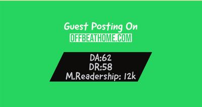 Guest Posting on offbeathome.com | DA62 | Dofollow