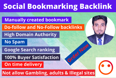 build bookmark submission backlink manually on top sites