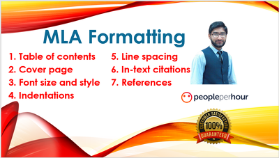 Do MLA Formatting of given document