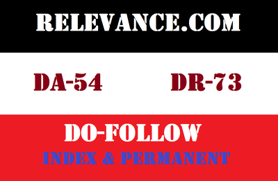 Publish a guest post on Relevance, Relevance.com DA-54 Dofollow