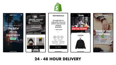 Ready-To-Launch & High Converting Shopify Store (FREE Logo)