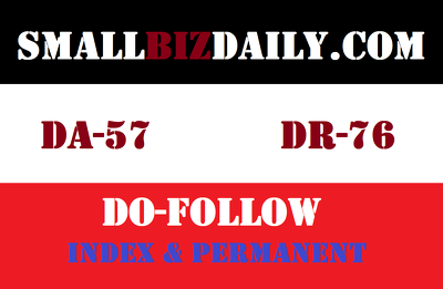 Publish a guest post on smallbizdaily, smallbizdaily.com DA 57
