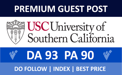 Premium guest post on USC.edu With Dofollow Backlink